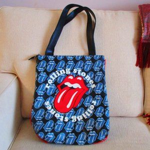 ROLLING STONES | Lips Logo Faux Leather Tote NEW